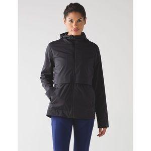 Lululemon NWT Nonstop Rain Jacket Black Size 10